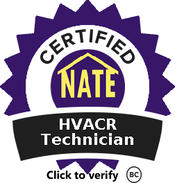 NATE Certified HVACR Technician
